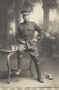 Geof Brockhoff in uniform.  Courtesy G & J Bishop.