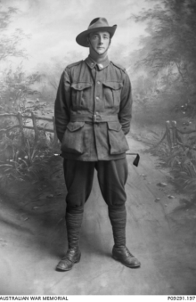Norman Hocking  Studio portrait of 3567 Private (Pte) Norman Hocking, 32nd Battalion : P09291.197 c1916 Australian War Memorial