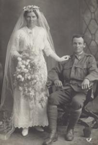 Marriage of Florence Edwards and Thomas Eglinton.  Courtesy P Eglinton.
