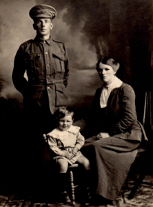 Arthur Walter Lacey Lawson, with his wife Johanna Louisa Liebelt and son Cyril Arthur Lawson.  Courtesy Ivan Probert.