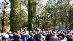 Anzac Day 2015  crowd ~ almost 500 people attended.  Courtesy R Green.